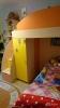 Детская двухъярусная кровать со встроеными шкафами