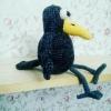 Ворона вязаная крючком