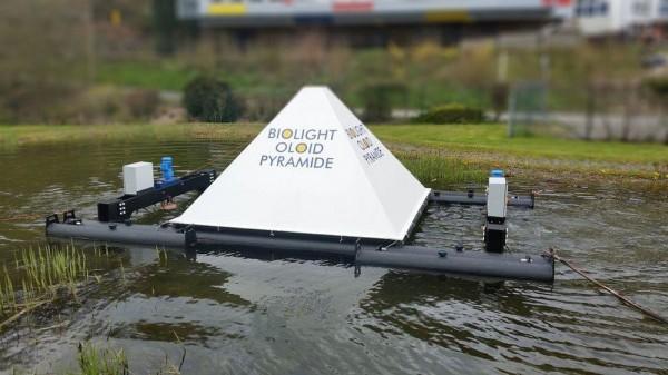 Новая система очистки воды в городском пруду
